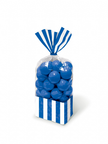 Bright Royal Blue - Striped Party Bags